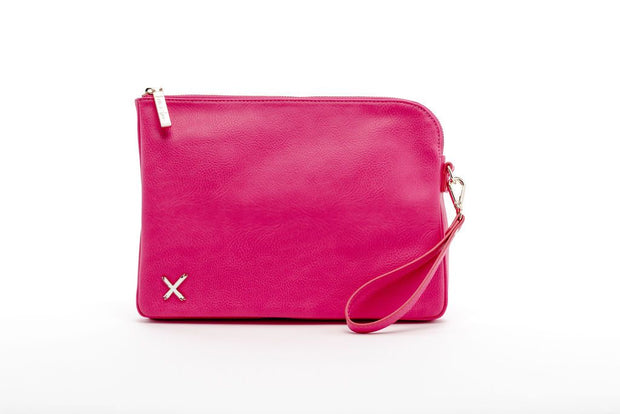 Home Lee Oversized Clutch Bag Raspberry Pink