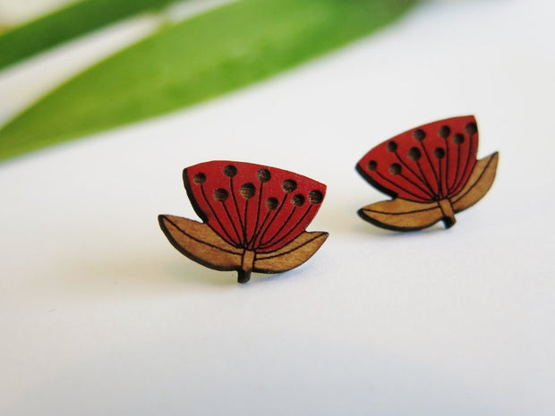Natty Pohutukawa Earrings