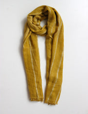 Stella and Gemma Scarf Mustard with Silver Lurex 1392