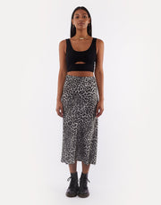 8360024.GRY Viva midi skirt grey