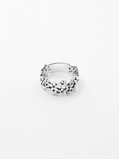Some Sterling Silver Flower Cluster Ring 485