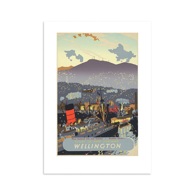 100% NZ Wellington City Tourist A4 Print