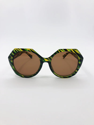 Some 70's Rock Sunglasses Green Tort 118