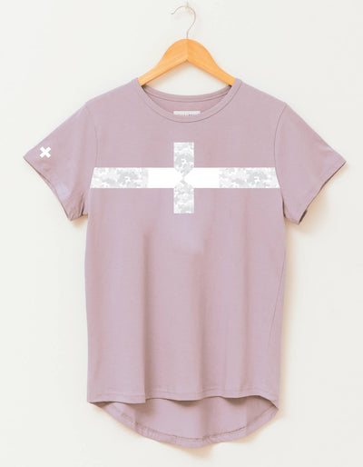 Stella and Gemma Lilac Camo Stripe Tee 3074