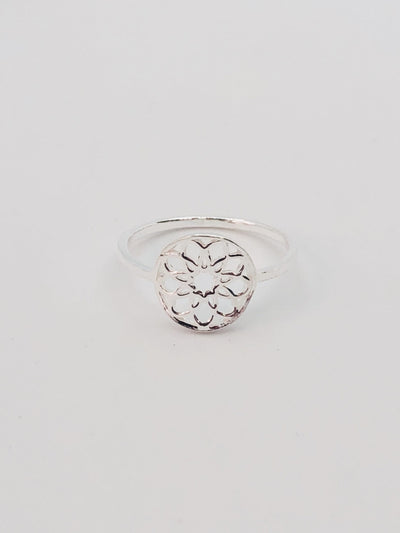 Some Sterling Silver Nine Petal Ring 131