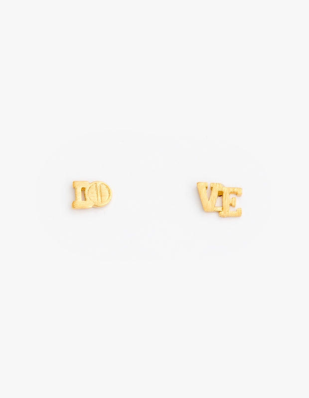 Stella and Gemma LOVE Earrings Gold 6464
