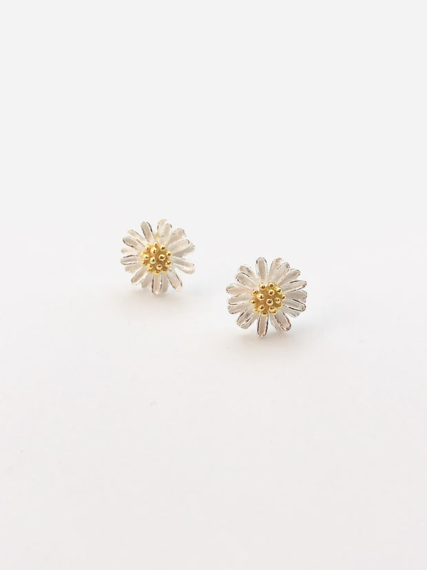 Some Sterling Silver Chamomile Gold Plated Centre 844