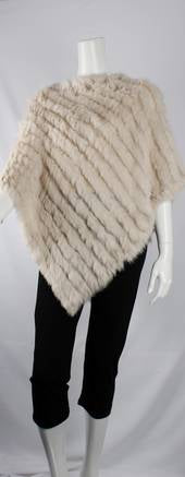Alice and Lily Rabbit Fur Poncho 4254