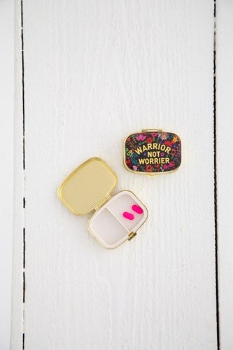 Natural Life Pill Box Warrior not Worrier 028