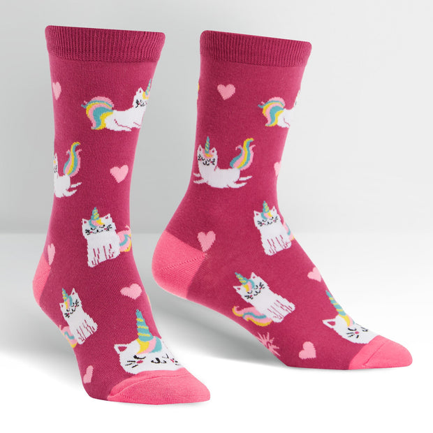 Sock it to Me Women's Crew Socks Look at me Meow W020I
