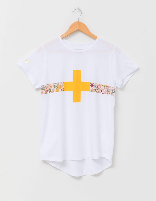 Stella and Gemma Tee White with Floral Band 2099