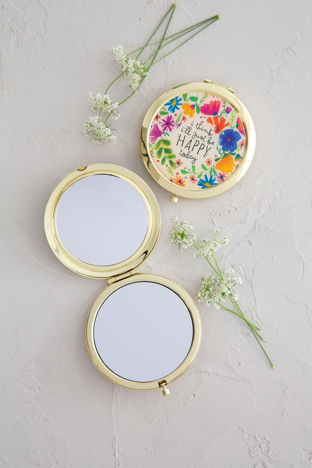 Compact & Mirror Be Happy Today 014
