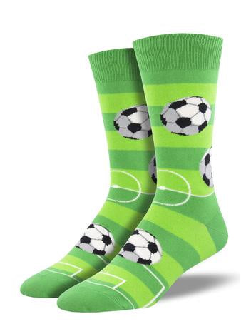 Socksmith Men's Socks Goal For It Green 1999