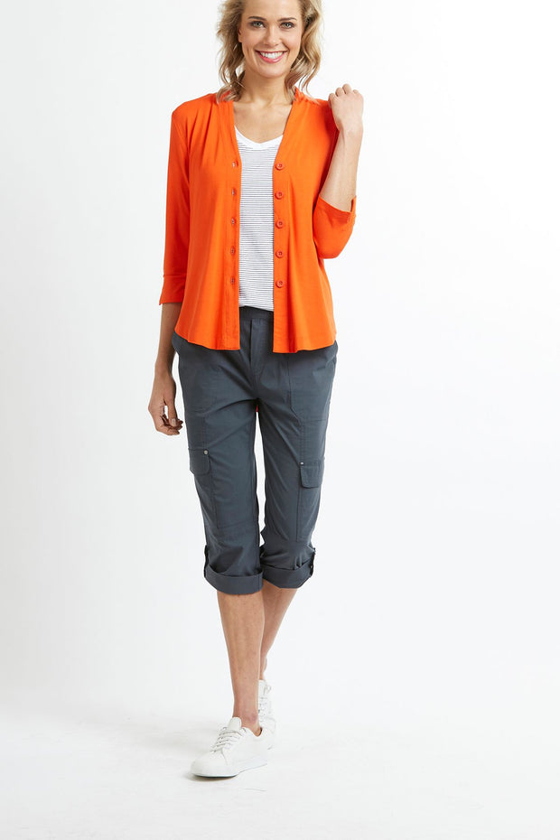 Esplanade Swing Cardi in Orange TP10825