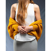 Hello Friday The Crowd Pleaser Batwing Cardi Mustard HF103
