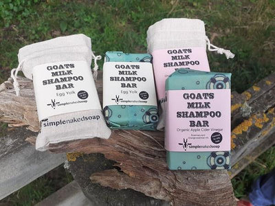 Simple Naked Soap Goat Shampoo Bar 100g  with Bag