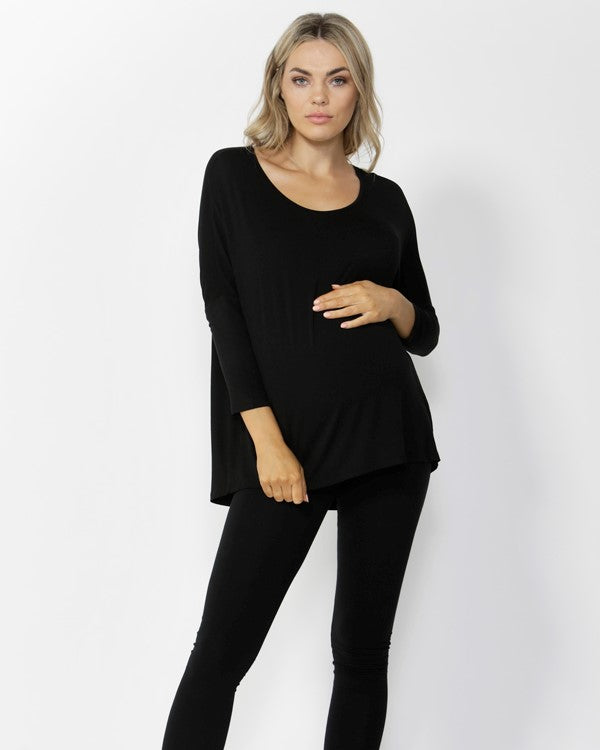 Betty Basics Milan 3/4 Tee in Black