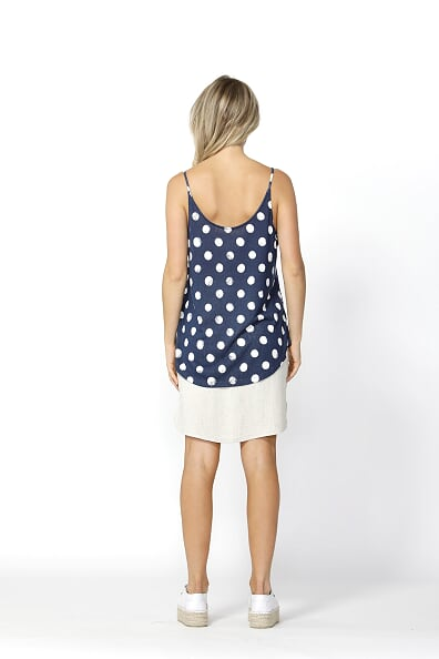 Betty Basics San Diego Two Way Cami in Ink/White Spot