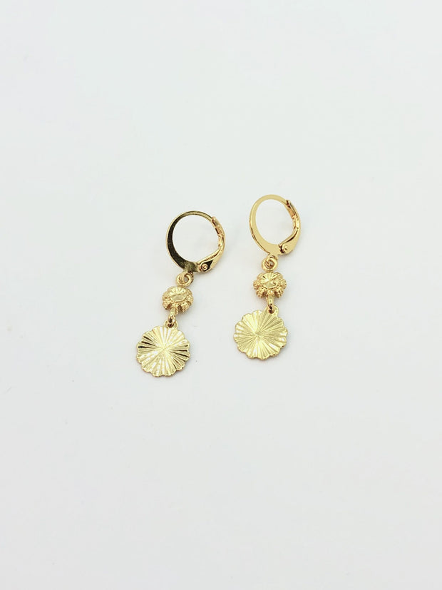 Some Gold Drop Fan Earrings 179