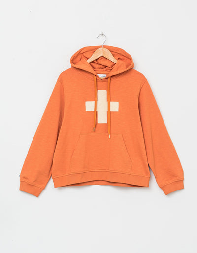 Stella and Gemma Amber Ecru Cross Hoody 3080