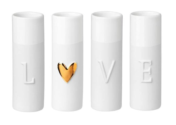Rader Love Mini Vases Set of 4