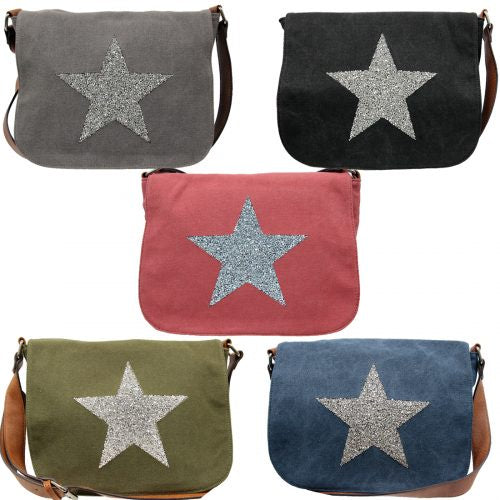 Sassy Duck Star Power Canvas Cross Body Bag 5097