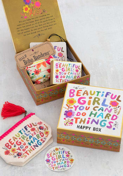 Happy Gift Box Empty Beautiful Girl 016