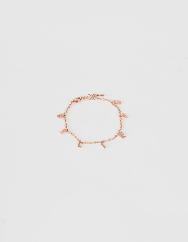 Stella and Gemma Bracelet Believe Rose Gold