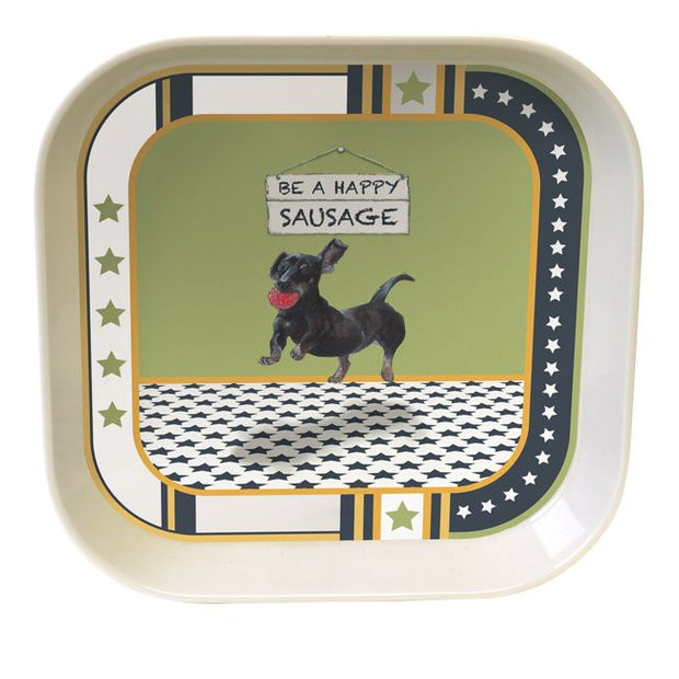 Little Dog Laughed - Sausage - Bamboo Trinket Tray  07