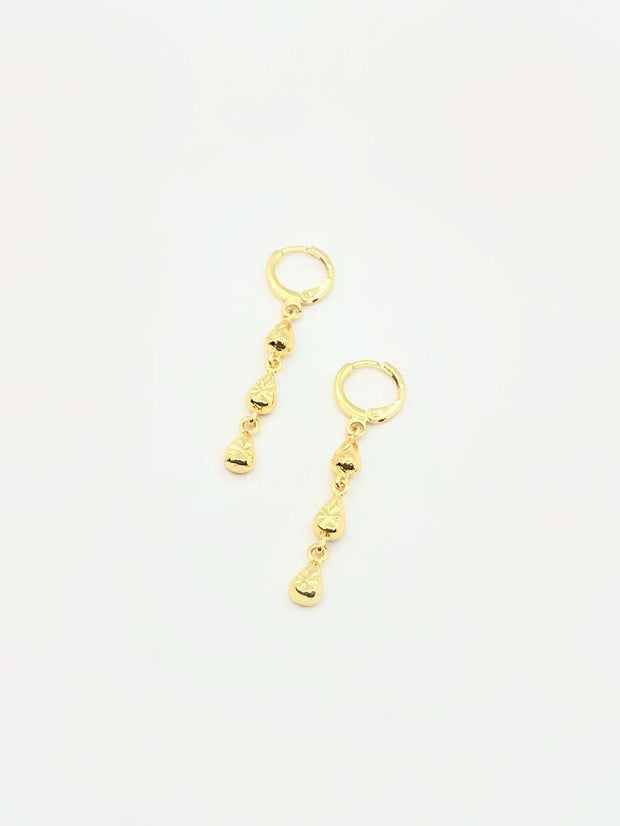 Some Raindrops Earrings Gold Coloured 175A