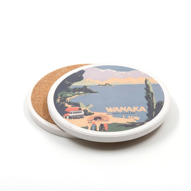 100% NZ Wanaka Tourist Ceramic Coaster