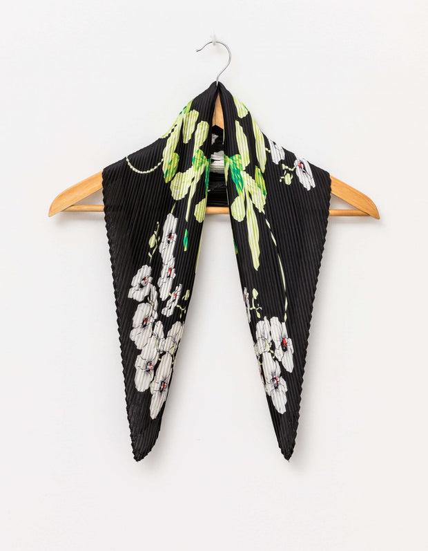 Stella and Gemma Scarf Square Botanical Black 1583