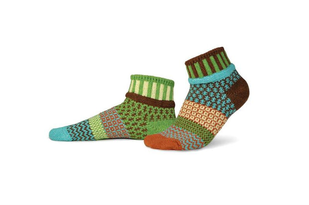 Solmate Socks - September Sun - Adult Quarter Socks