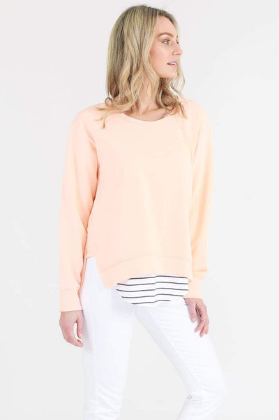 3rd Story Ulverstone Sweater in Neon Peach