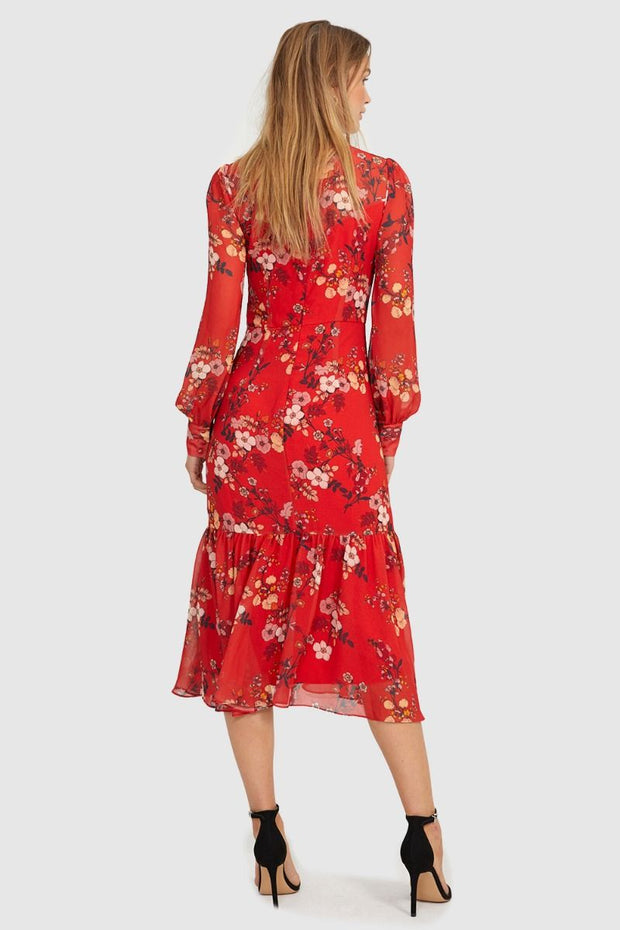 Cooper St Disco Longsleeve Midi Dress