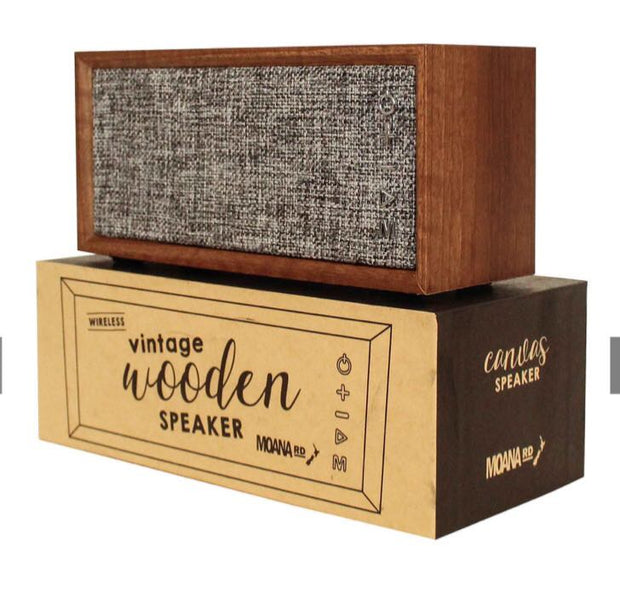 Moana Road Vintage Speaker Wooden Canvas