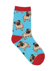Socksmith Minis Kids Pug Socks Blue 7042