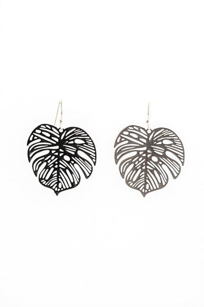 Stilen Monstera Silver Earrings