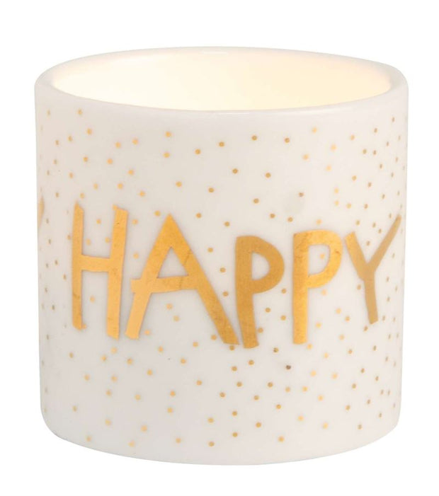 Räder - Happy Birthday- Porcelain Candle Holder
