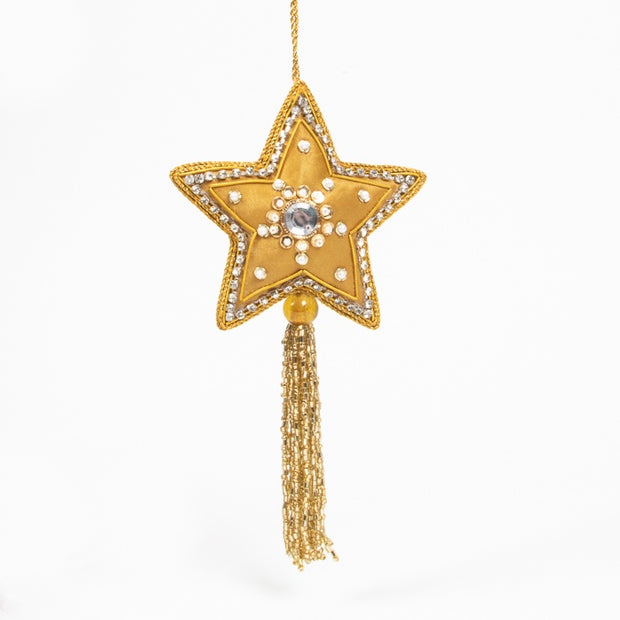 Trade Aid Gold Satin Star Hanging Decoration