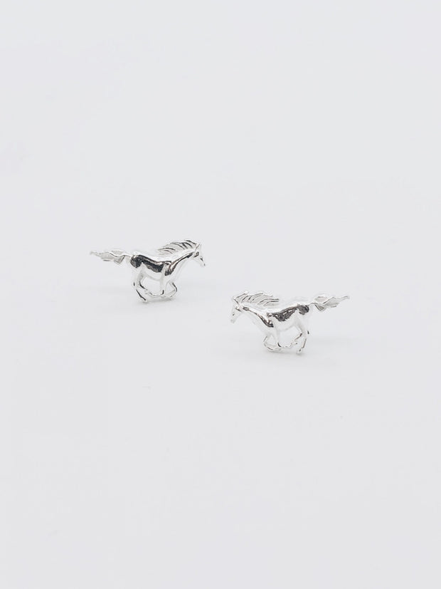 Some Sterling Silver Horse Earrings 098