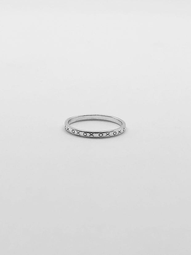 Some Sterling Silver XOX Ring 490