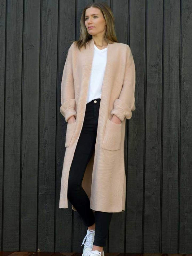 Hello Friday Longliner Cardi in Blush