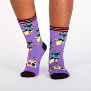 Sock it to Me Women's Crew Socks Cat-ercise Crew Socks 1145