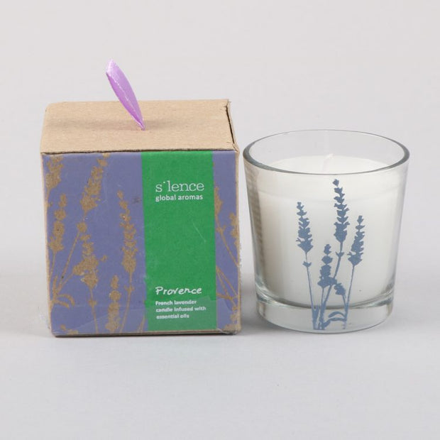 Trade Aid Small Provence French Lavender Scented Candle