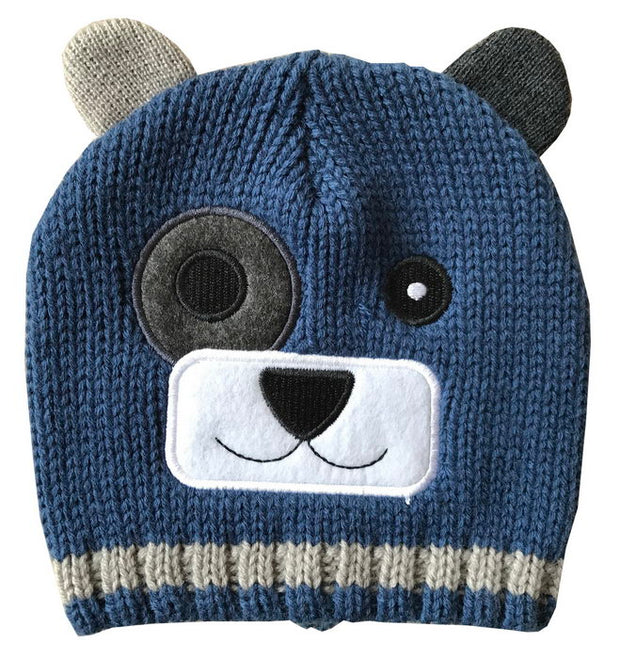 Amberlene Child's Blue Bear Beanie 202