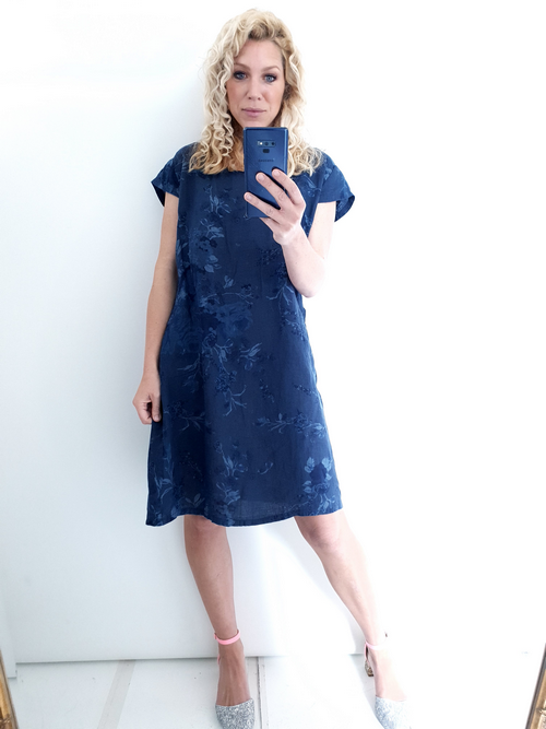 Helga May Navy Porcelain Kennedy Dress Large 100671