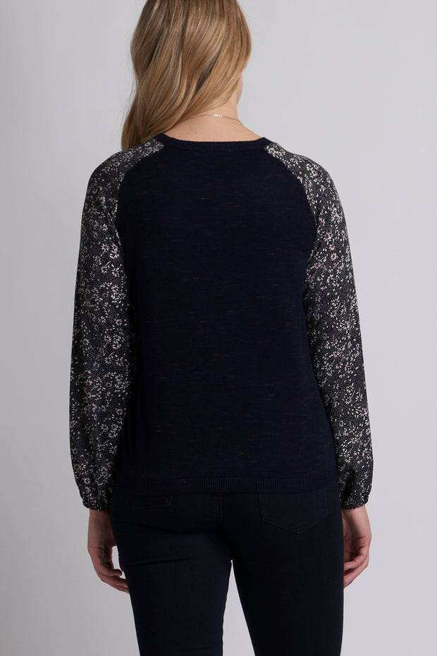 Memo Raglan Jumper in Daisy / Midnight TP10303