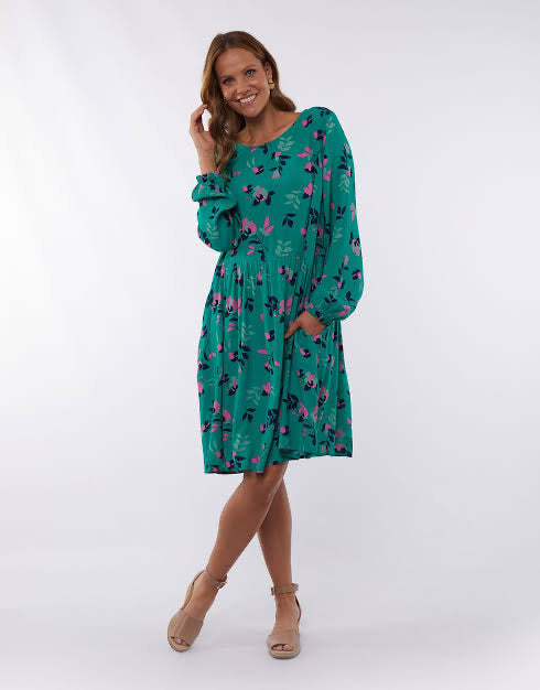 Elm Magnolia Dress in Green 8172010