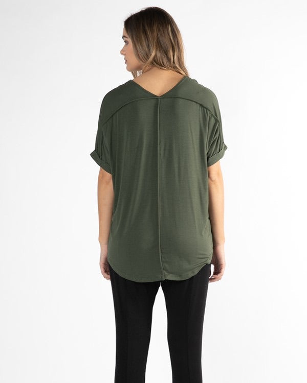 Betty Basics Granada Tee in Olive